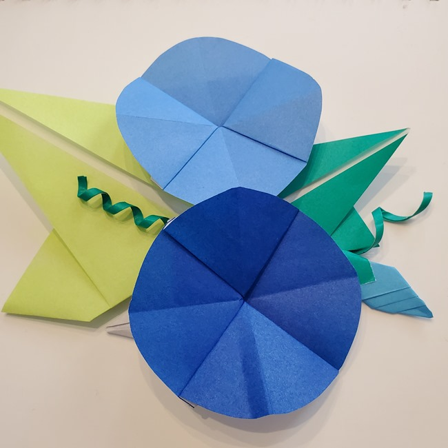 朝顔を折り紙で簡単に子どもと作る折り方まとめ