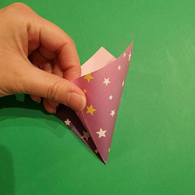 折り紙おもちゃ アイスクリーム カップの作り方折り方②カップ(10)