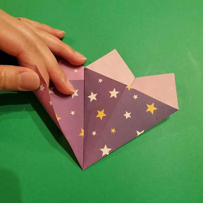 折り紙おもちゃ アイスクリーム カップの作り方折り方②カップ(14)