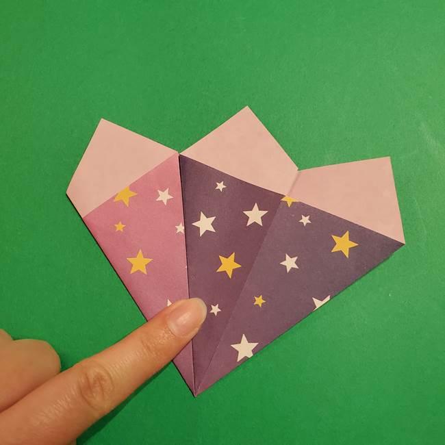 折り紙おもちゃ アイスクリーム カップの作り方折り方②カップ(15)