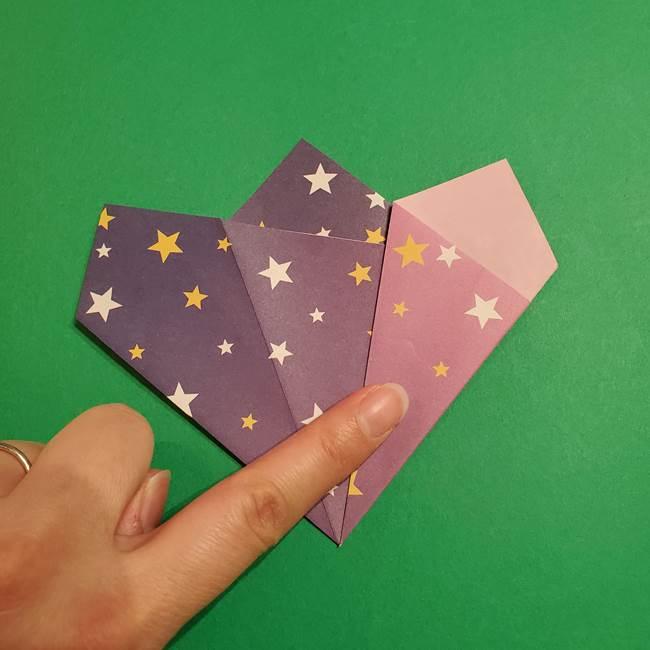 折り紙おもちゃ アイスクリーム カップの作り方折り方②カップ(16)