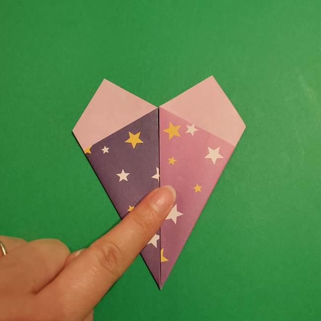 折り紙おもちゃ アイスクリーム カップの作り方折り方②カップ(17)