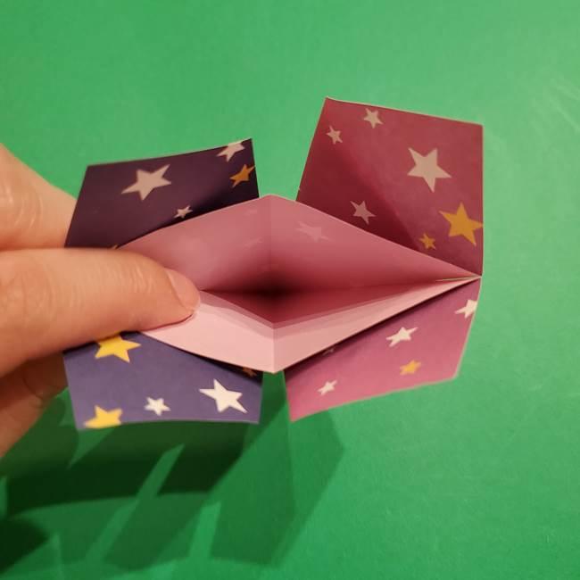 折り紙おもちゃ アイスクリーム カップの作り方折り方②カップ(19)