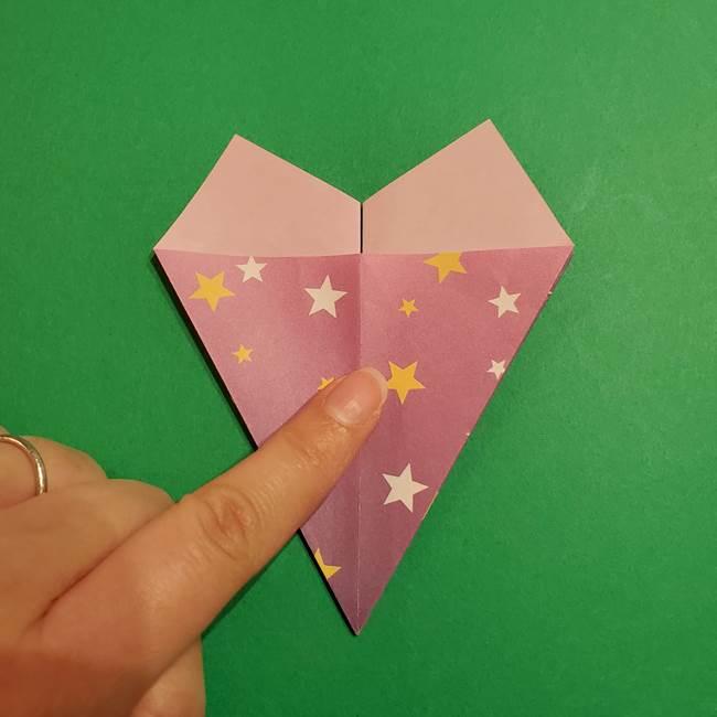 折り紙おもちゃ アイスクリーム カップの作り方折り方②カップ(21)