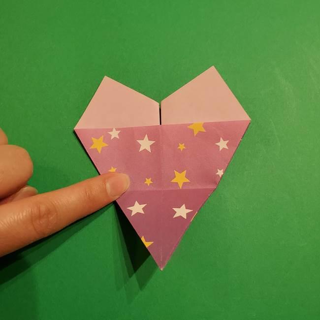 折り紙おもちゃ アイスクリーム カップの作り方折り方②カップ(23)