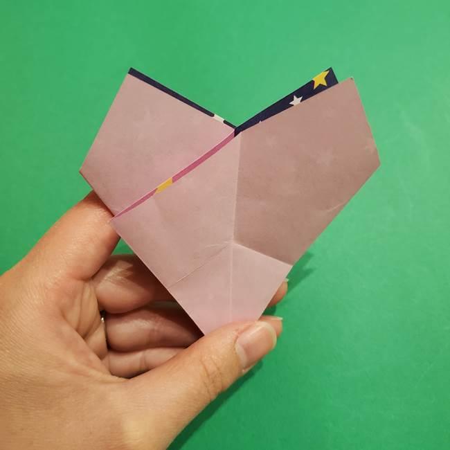 折り紙おもちゃ アイスクリーム カップの作り方折り方②カップ(28)