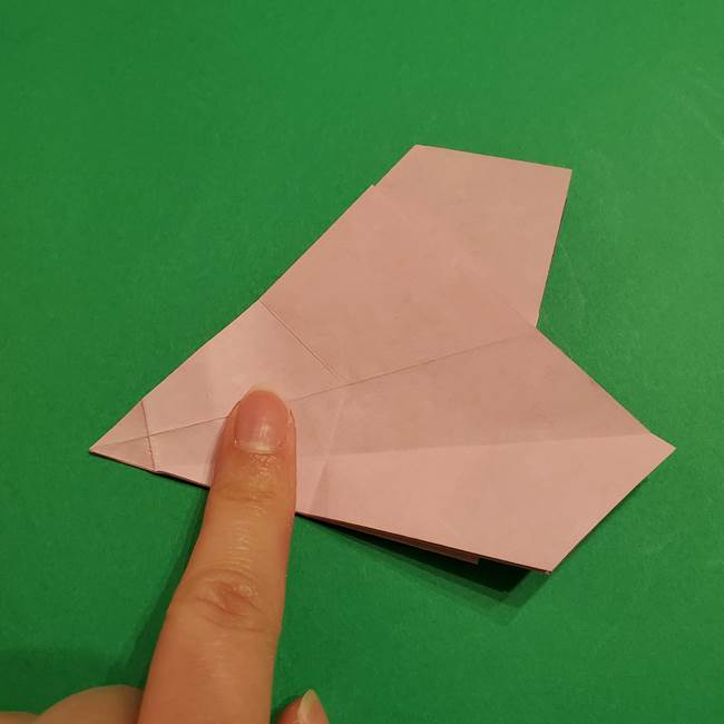 折り紙おもちゃ アイスクリーム カップの作り方折り方②カップ(34)