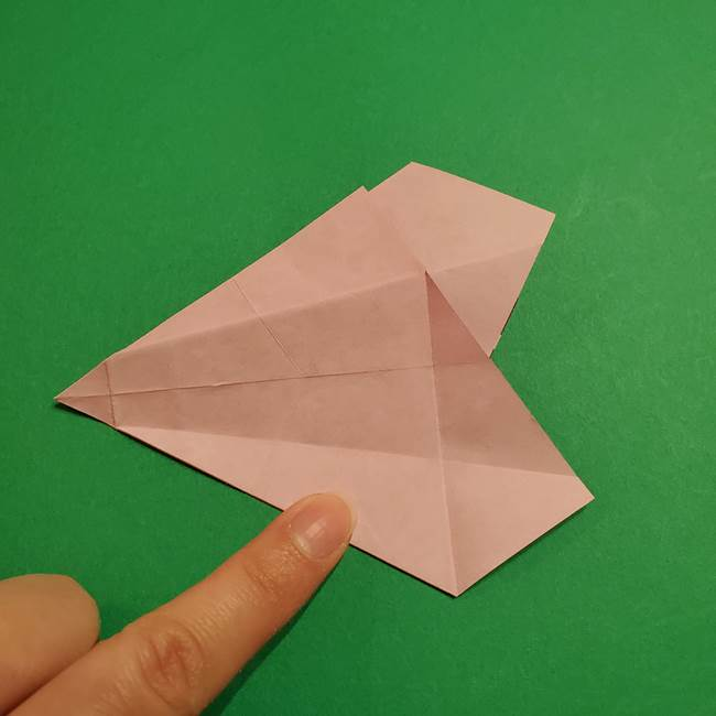 折り紙おもちゃ アイスクリーム カップの作り方折り方②カップ(45)