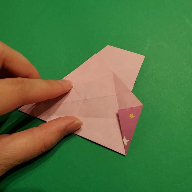 折り紙おもちゃ アイスクリーム カップの作り方折り方②カップ(46)