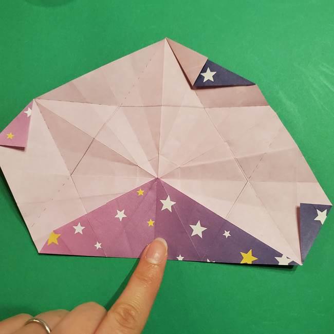 折り紙おもちゃ アイスクリーム カップの作り方折り方②カップ(56)