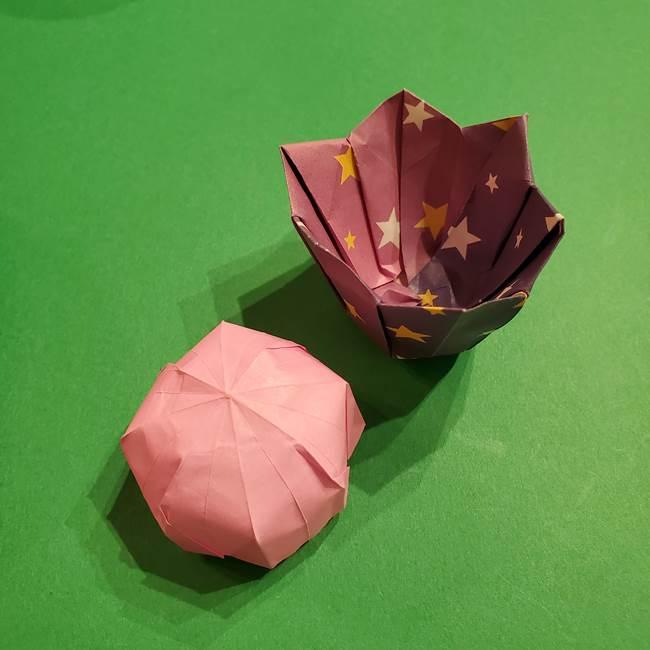 折り紙おもちゃ アイスクリーム カップの作り方折り方③完成(1)