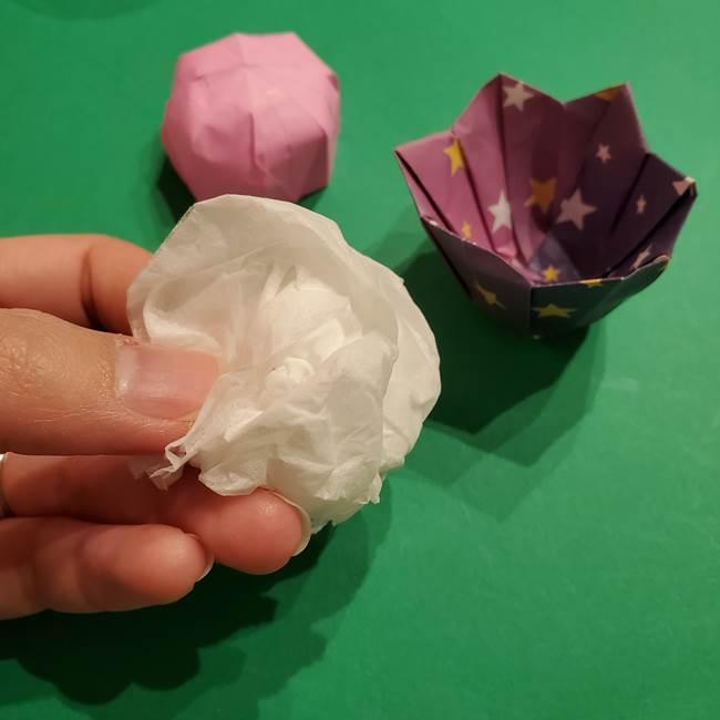折り紙おもちゃ アイスクリーム カップの作り方折り方③完成(2)