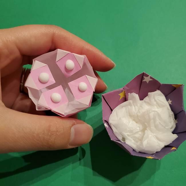 折り紙おもちゃ アイスクリーム カップの作り方折り方③完成(4)
