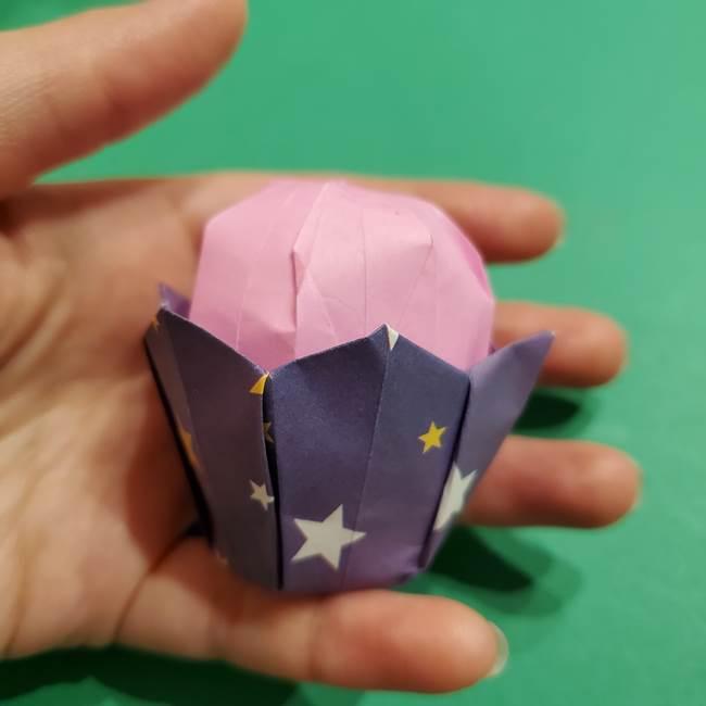 折り紙おもちゃ アイスクリーム カップの作り方折り方③完成(5)