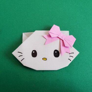 折り紙でチャーミーキティを作ったよ!折り方作り方を写真つきで紹介★