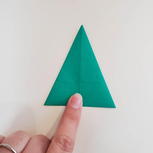 折り紙で朝顔の葉の折り方作り方(10)