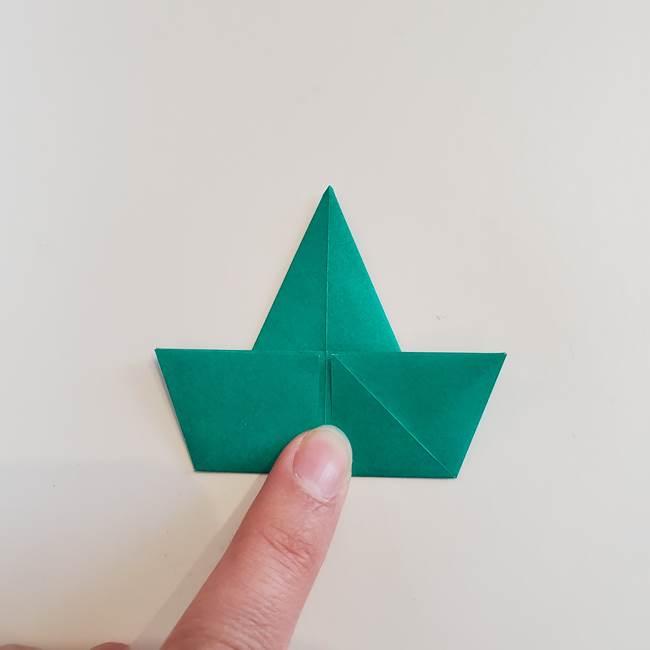 折り紙で朝顔の葉の折り方作り方(11)