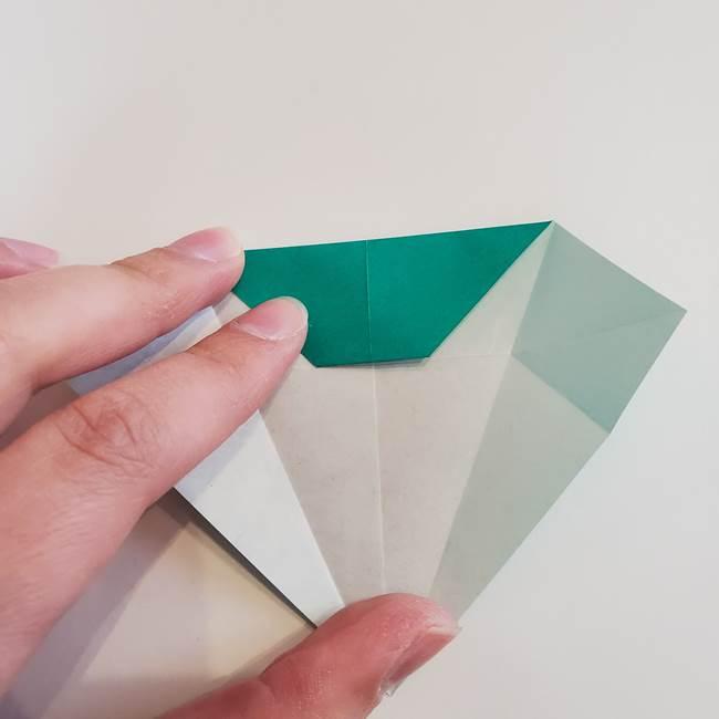 折り紙で朝顔の葉の折り方作り方(14)