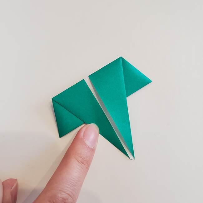 折り紙で朝顔の葉の折り方作り方(16)