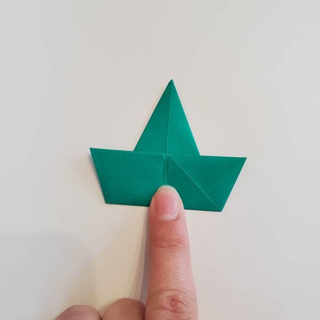 折り紙で朝顔の葉の折り方作り方(17)