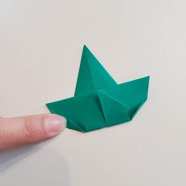 折り紙で朝顔の葉の折り方作り方(18)