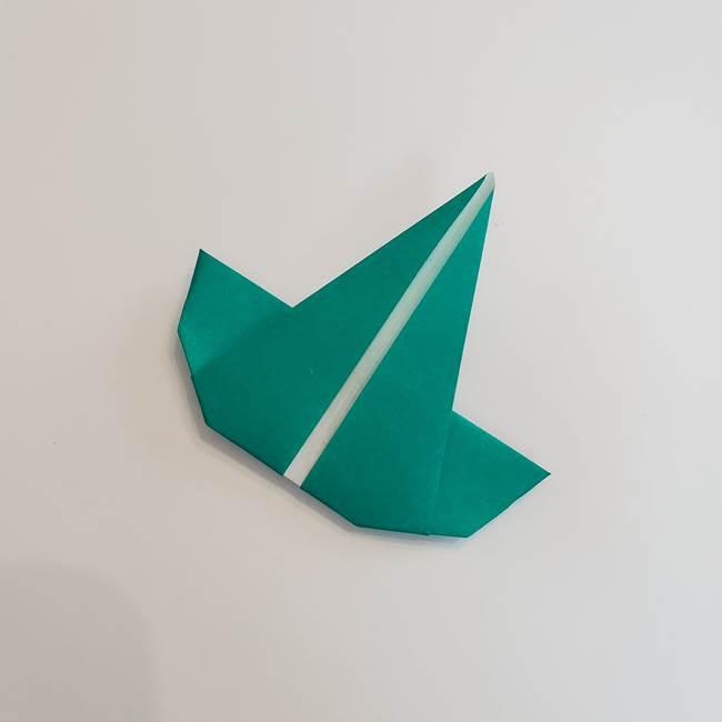 折り紙で朝顔の葉の折り方作り方(19)
