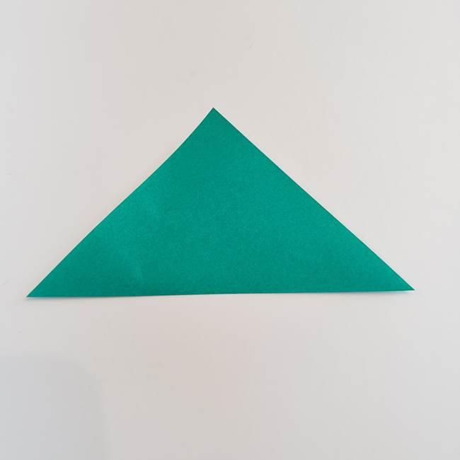 折り紙で朝顔の葉の折り方作り方(2)