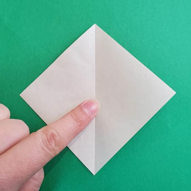 折り紙で朝顔の葉の折り方作り方(3)