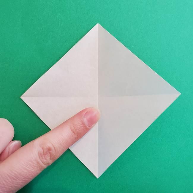 折り紙で朝顔の葉の折り方作り方(5)