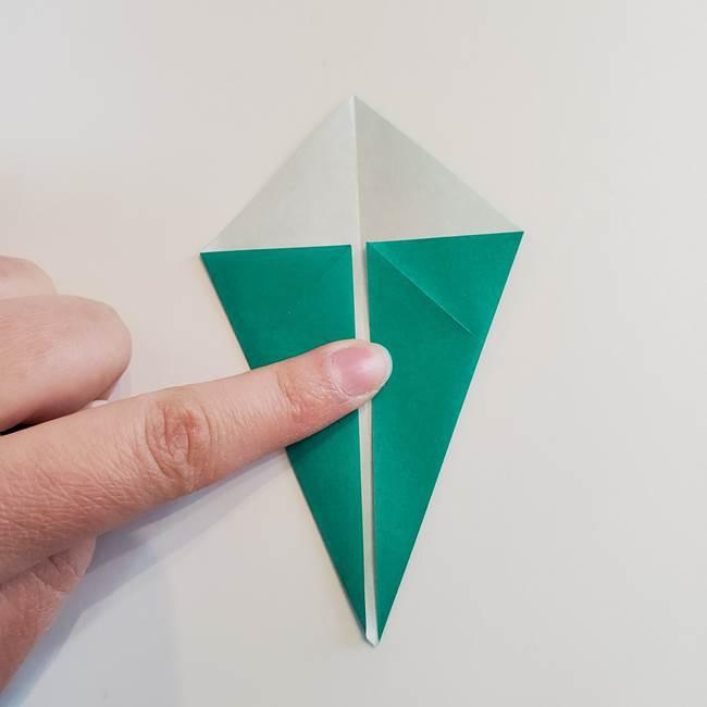 折り紙で朝顔の葉の折り方作り方(6)