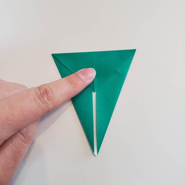 折り紙で朝顔の葉の折り方作り方(7)