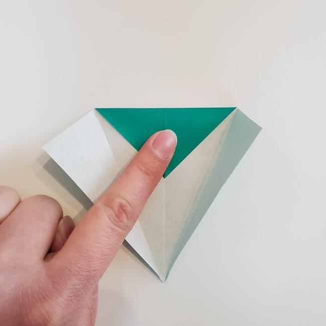 折り紙で朝顔の葉の折り方作り方(8)