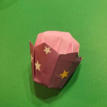 折り紙のおもちゃアイスクリームカップ☆立体的で楽しい作り方折り方