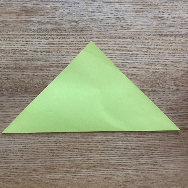 折り紙のキイロイトリの折り方作り方 (1)