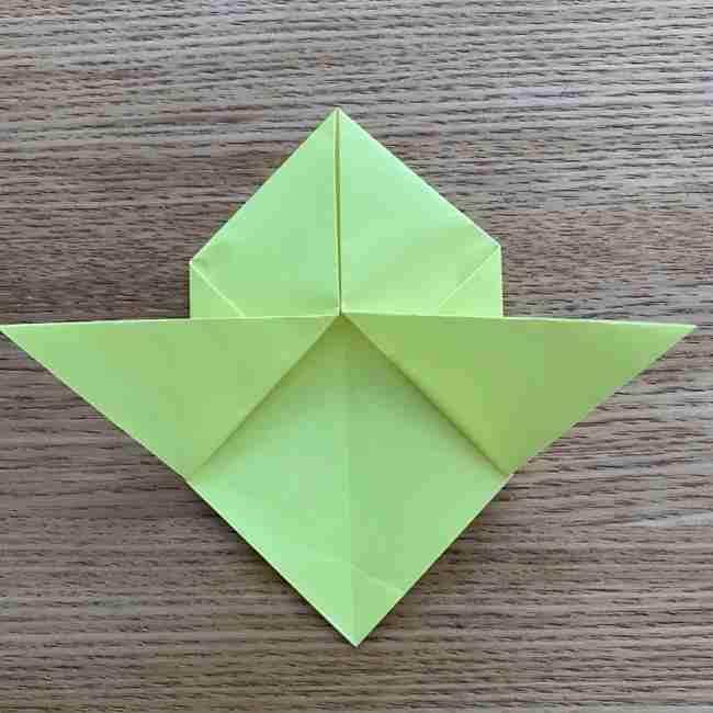 折り紙のキイロイトリの折り方作り方 (10)