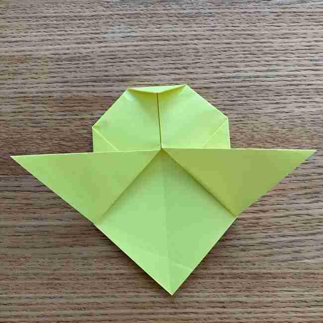 折り紙のキイロイトリの折り方作り方 (11)