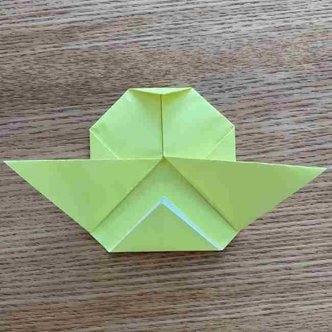 折り紙のキイロイトリの折り方作り方 (12)