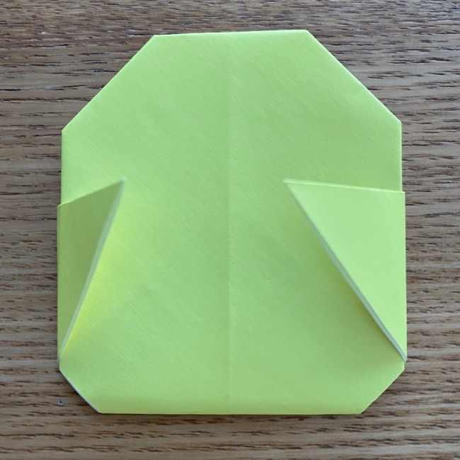 折り紙のキイロイトリの折り方作り方 (14)