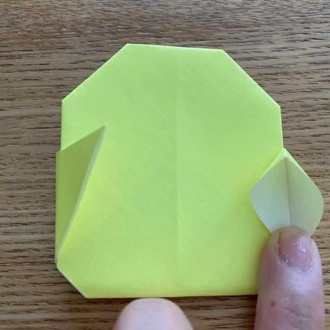 折り紙のキイロイトリの折り方作り方 (15)