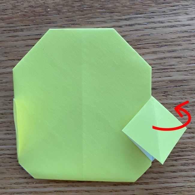 折り紙のキイロイトリの折り方作り方 (17)