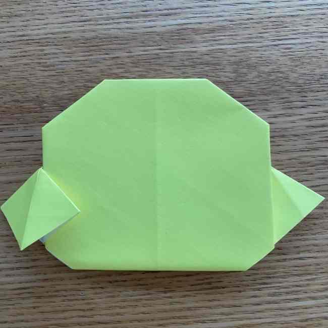 折り紙のキイロイトリの折り方作り方 (18)