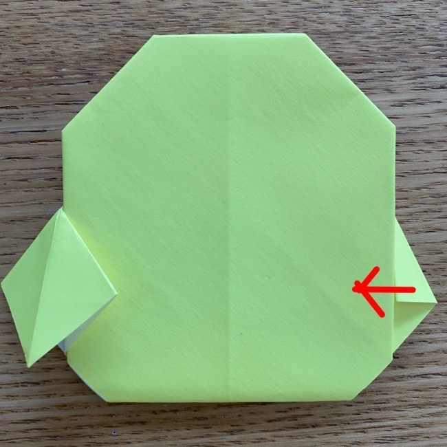 折り紙のキイロイトリの折り方作り方 (19)