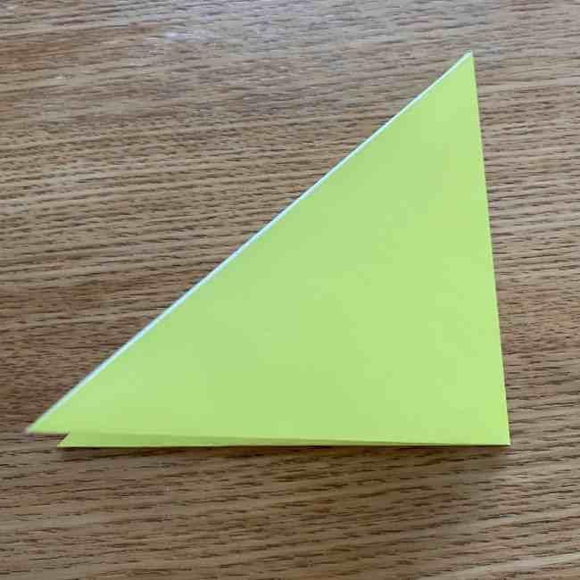 折り紙のキイロイトリの折り方作り方 (2)