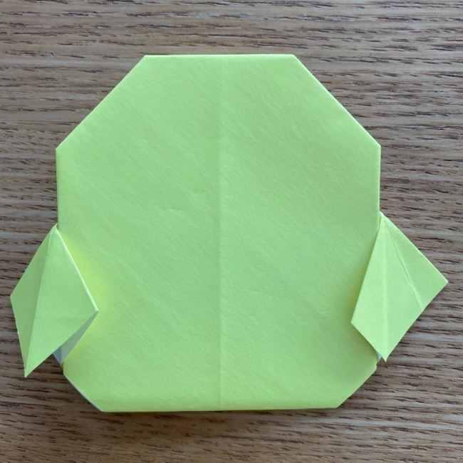 折り紙のキイロイトリの折り方作り方 (20)
