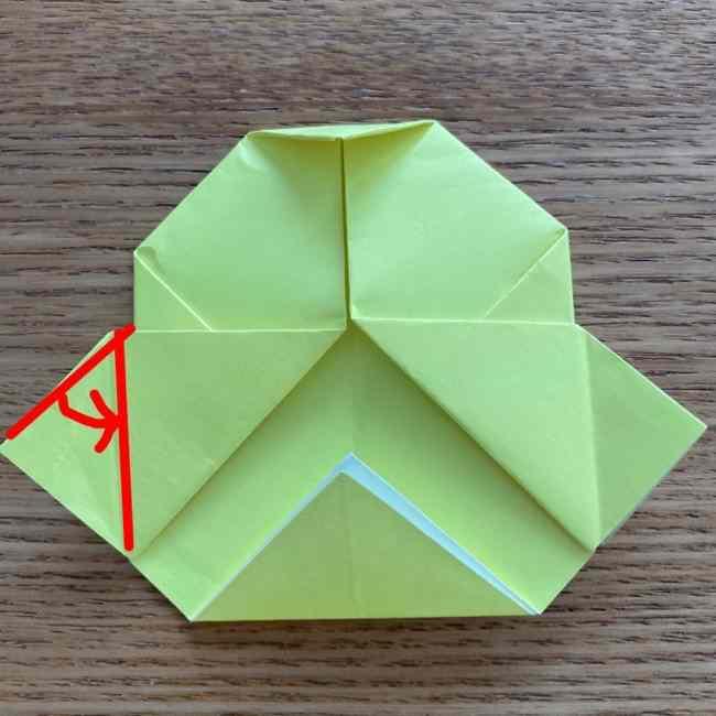 折り紙のキイロイトリの折り方作り方 (21)