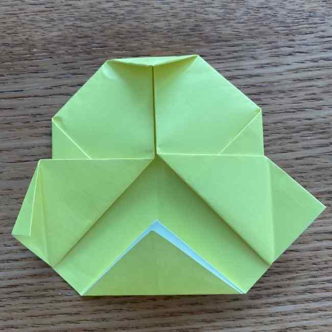 折り紙のキイロイトリの折り方作り方 (22)