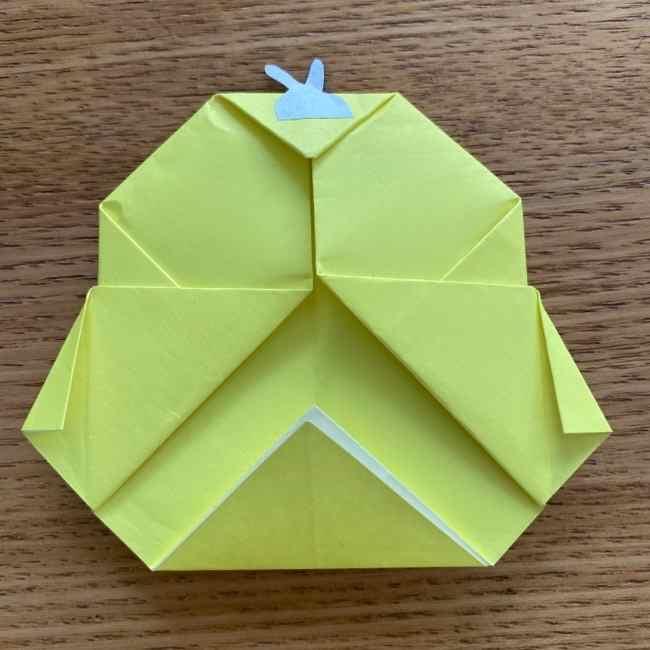 折り紙のキイロイトリの折り方作り方 (24)