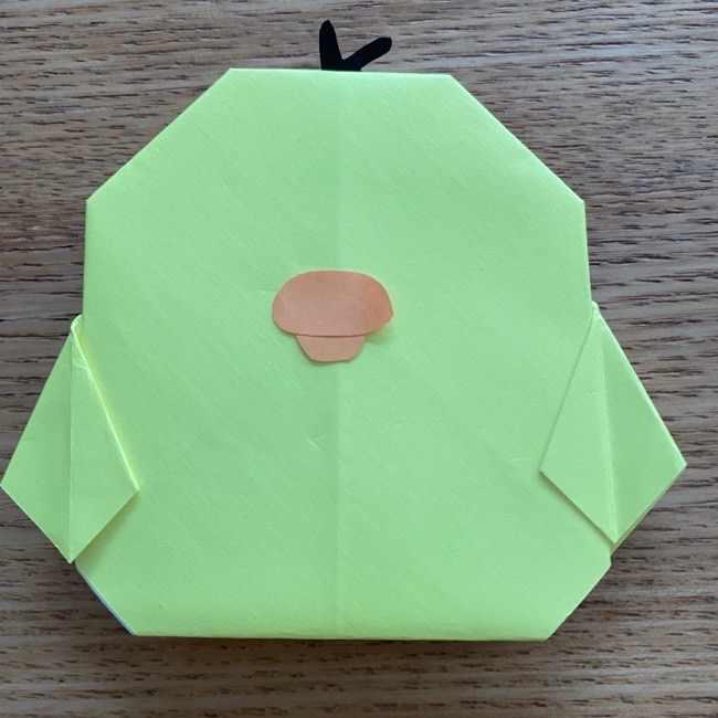 折り紙のキイロイトリの折り方作り方 (25)