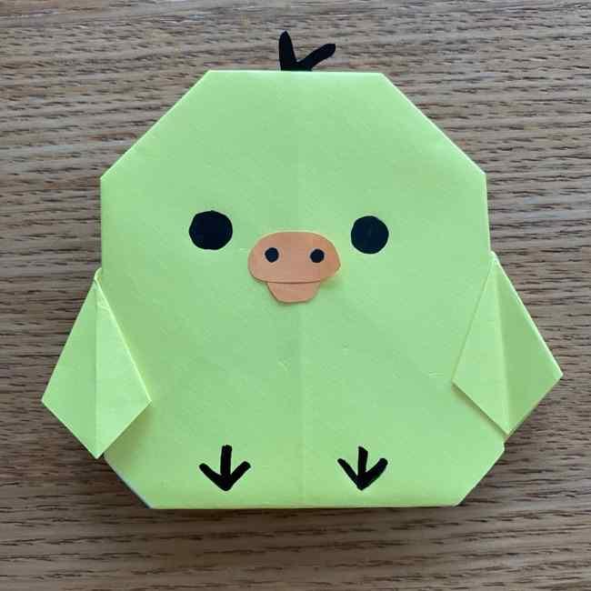折り紙のキイロイトリの折り方作り方 (26)