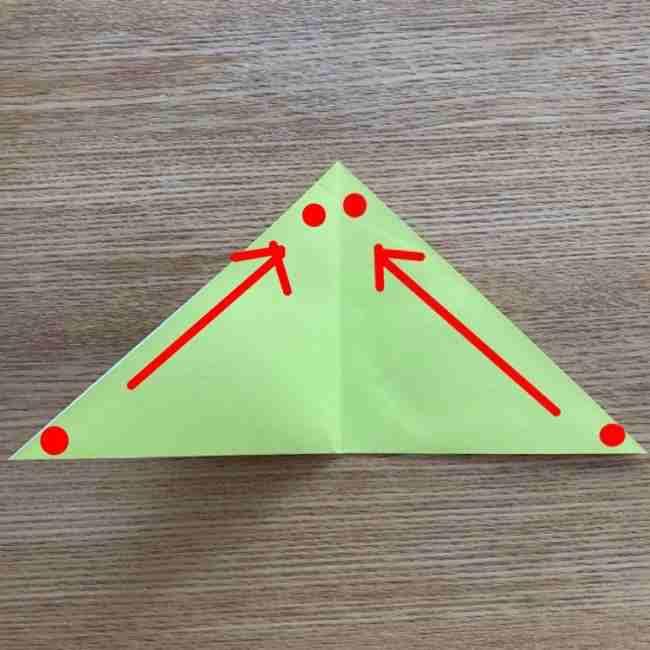 折り紙のキイロイトリの折り方作り方 (3)